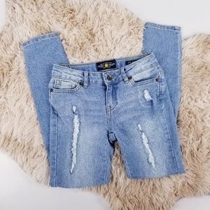 Lucky Brand Girls Size 8 Zoe Jegging Blue Jeans